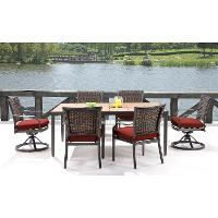 MERCDN7PCSW-RED Outdoor Red 7 Piece Dining Set - Mercer