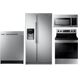 Medium image of     kit samsung stainless steel 4 piece kitchen appliance package