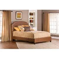 Weathered Brown King Upholstered Bed - Durango