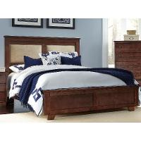 Classic Brown Full Upholstered Bed - Diego