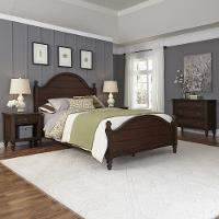 Mahogany King Bed & Two Nightstands, Chest - Country Comfort