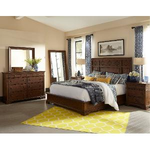 clearance coffee brown classic 6 piece queen bedroom set trisha yearwood