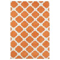 4 x 6 Small Orange and Ivory Area Rug - Lily & Liam