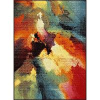 AVON/1701-MULTI..7 8 x 10 Large Contemporary Red, Blue, and Green Area Rug - Avon