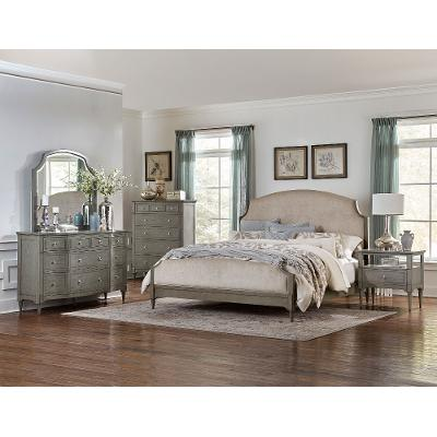 Classic Traditional Gray 6-Piece King Bedroom Set - Albright | RC ...
