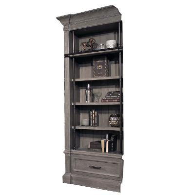 Rustic Smoke Gray Bookcase Extension - Gramercy Park