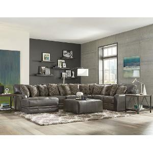 ... Casual Classic Steel Gray 5 Piece Sectional Sofa   Denali