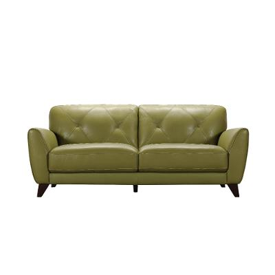 Modern Green Sofa modern green leather sofa - colours | rc willey furniture store