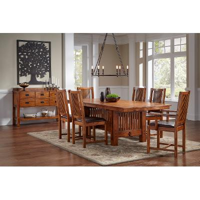 5PCMIH HA DINING Mission 5 Piece Dining Set With Trestle Table