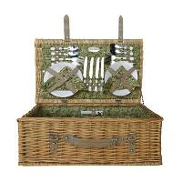 26152 Willow Beige Picnic Basket for 4