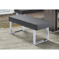 Gray and Chrome Modern Dining Bench - Zenith