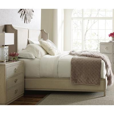 Rachael Ray Home California King Size Upholstered Shelter Bed - Cinema