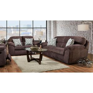 ... Casual Contemporary Cocoa Brown Sofa U0026 Loveseat Set   Imprint ... Part 97