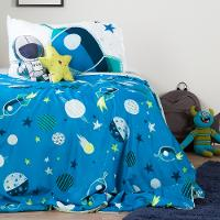 100193 Cosmic Twin Comforter Set & Throw Pillows - Dreamit