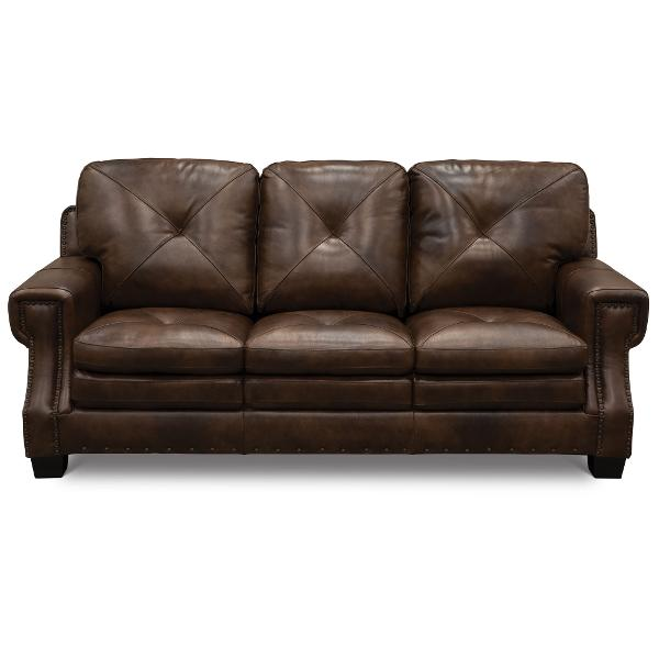 Clic Traditional Dark Brown Leather Sofa Bed Savannah