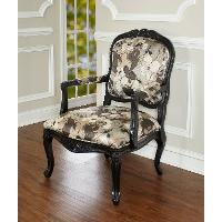 Traditional Floral Accent Chair - Miranda