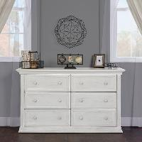 816-AM Traditional Mist Gray Dresser - Napoli