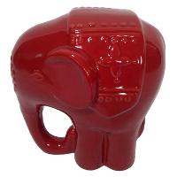 Red Ceramic Elephant