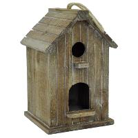 11 Inch Tall Wood Hanging Birdhouse