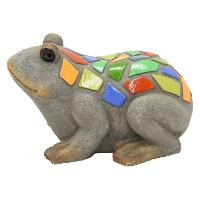 Resin Frog with Multi Color Mosaic