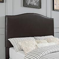 CF90004-601BR Contemporary Brown King Upholstered Headboard - Bellingham