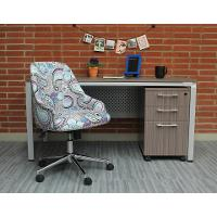 Purple and Blue Paisley Office Chair