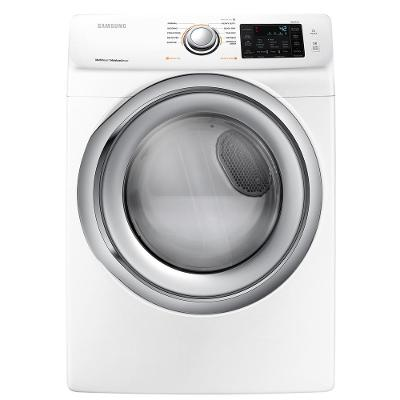 DVE45N5300W Samsung Electric Dryer with Steam - 7.5 cu. ft. White