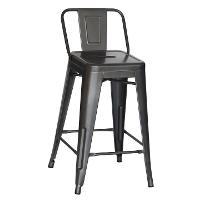 Charcoal Square Back Counter Height Stool (Set of 4)