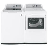 KIT GE Top Load Washer and Dryer Set - White Gas