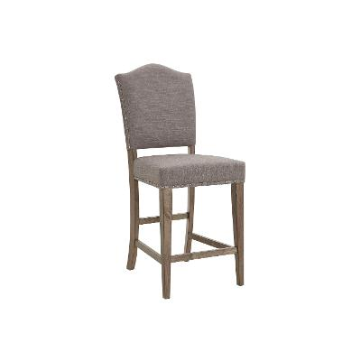 Brown and Gray Upholstered Counter Height Stool - Keystone