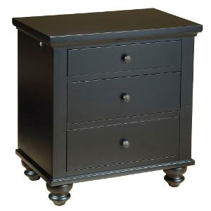 casual traditional black nightstand cambridge