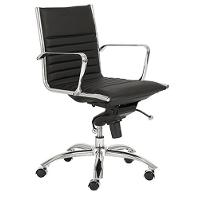 Black Low-Back Office Chair - Dirk
