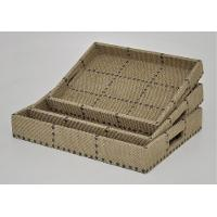 17 Inch Rectangle Decorative Tray and Cut Out Handles