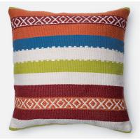 Multi-Colored Stripe 22 Inch Throw Pillow