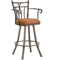 Randle 26 Inch Swivel Counter Height Stool with Arms