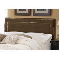 1554HQRA Chocolate Upholstered Queen Headboard - Amber