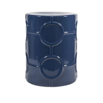 Blue Garden Stool RC Willey Furniture Store