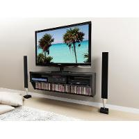 Series 9 Black 58 Inch Wall Mounted A/V Console