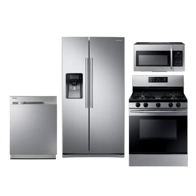Samsung 4 Piece Stainless Steel Kitchen Appliance Package | RC ...
